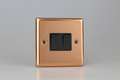 Varilight Polished Copper 2-Gang (10A Intermediate Switch + 10A 1- or 2-Way Rocker Switch) -